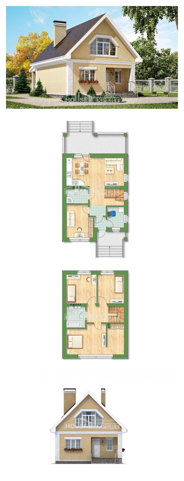 Проект дома 130-004-П | House Expert